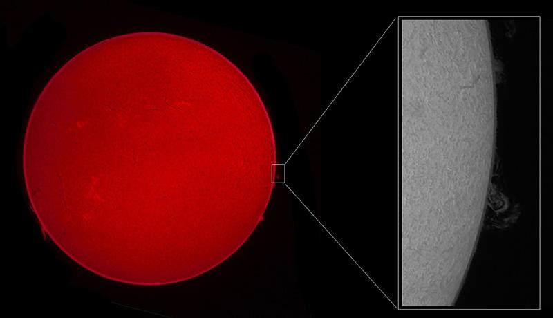 Sonne Protuberanzen