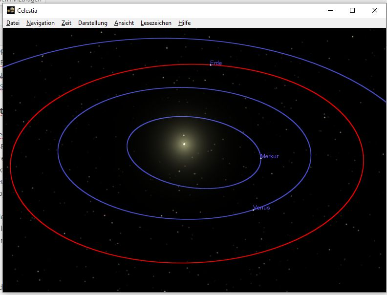 Astronomie-Software: Celestia Orbits