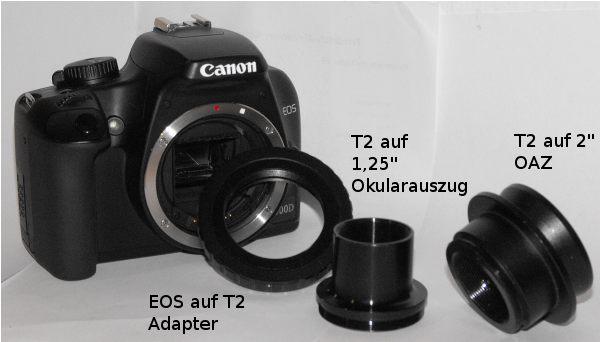 Kamera mit T2-Zubehör