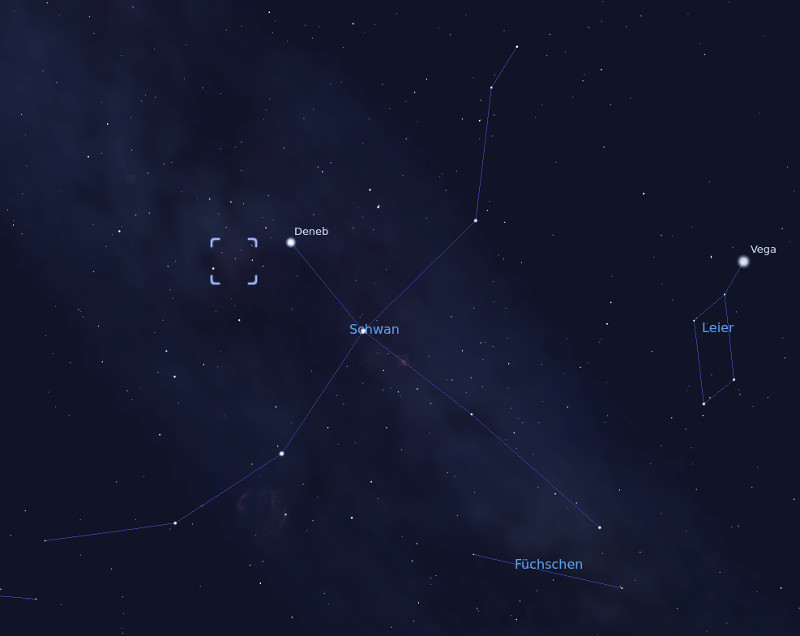 NGC 7000 - Aufsuchkarte