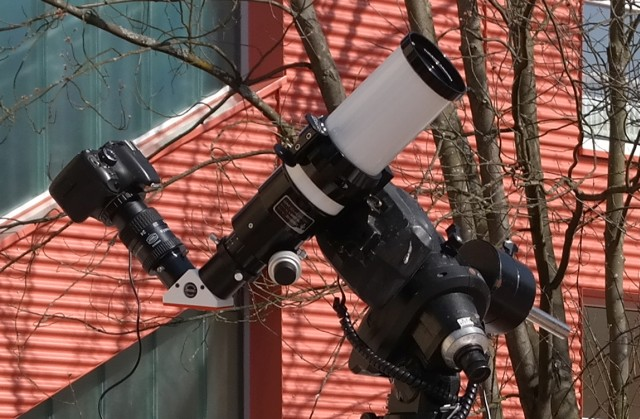 Lunt 60 mit Kamera