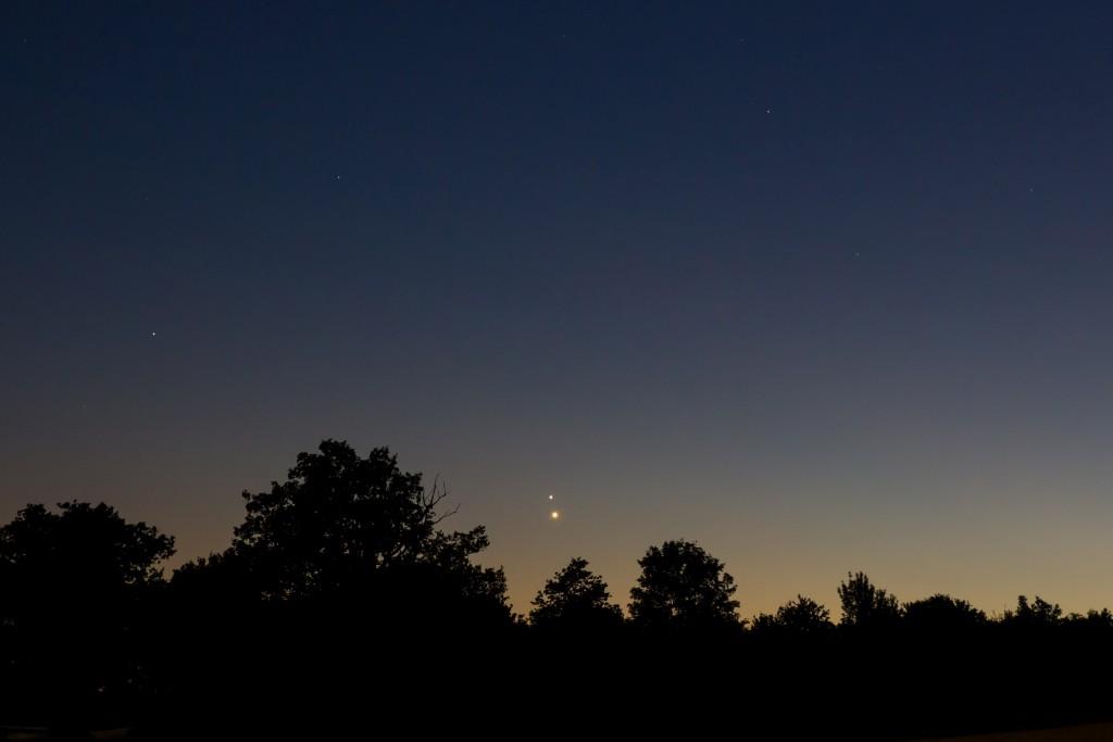 Venus und Jupiter Konjunktion 2015