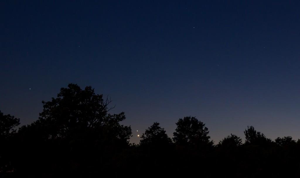 Venus und Jupiter kurz vor dem Untergang