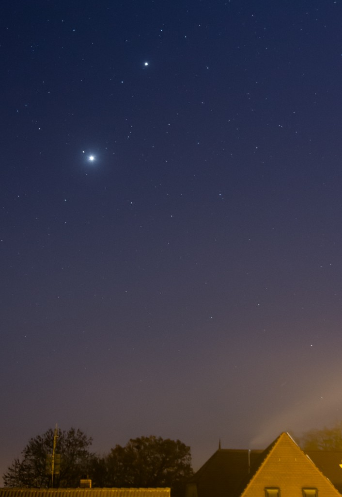 Konjunktion Venus, Mars, Jupiter November 2015